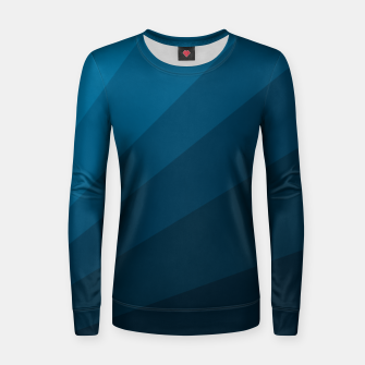 Miniatur The blue fan, geometric design in mystic blue Women sweater, Live Heroes