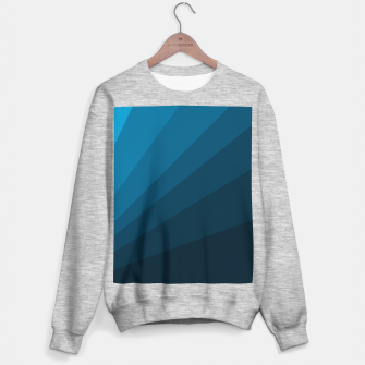 Miniature de image de The blue fan, geometric design in mystic blue Sweater regular, Live Heroes