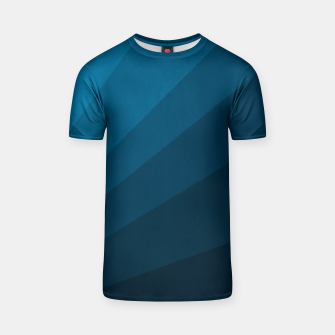 Miniatur The blue fan, geometric design in mystic blue T-shirt, Live Heroes