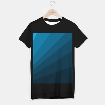 Miniatur The blue fan, geometric design in mystic blue T-shirt regular, Live Heroes