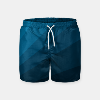 Miniatur The blue fan, geometric design in mystic blue Swim Shorts, Live Heroes