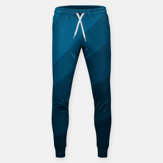 Miniatur The blue fan, geometric design in mystic blue Sweatpants, Live Heroes
