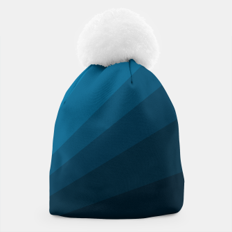 Miniatur The blue fan, geometric design in mystic blue Beanie, Live Heroes