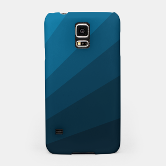 Miniatur The blue fan, geometric design in mystic blue Samsung Case, Live Heroes