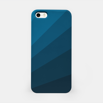 Miniatur The blue fan, geometric design in mystic blue iPhone Case, Live Heroes