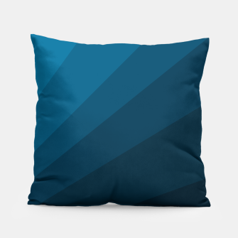 Imagen en miniatura de The blue fan, geometric design in mystic blue Pillow, Live Heroes