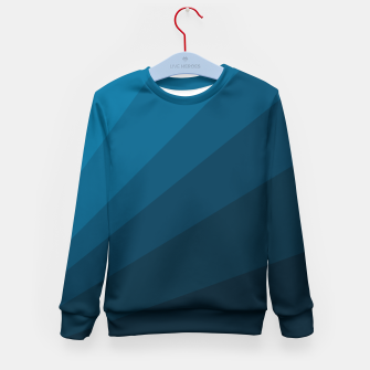 Miniatur The blue fan, geometric design in mystic blue Kid's sweater, Live Heroes