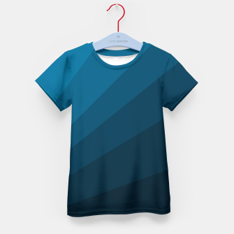 Miniatur The blue fan, geometric design in mystic blue Kid's t-shirt, Live Heroes