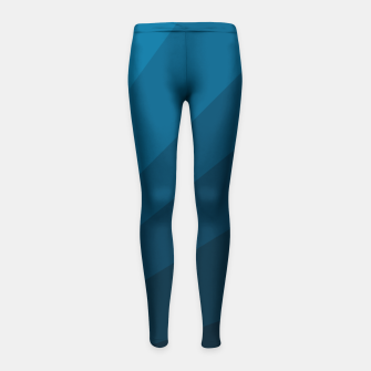 Miniatur The blue fan, geometric design in mystic blue Girl's leggings, Live Heroes