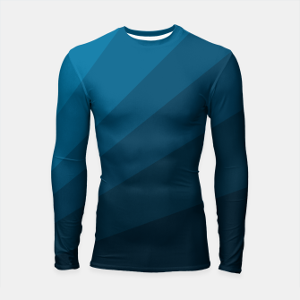 Miniatur The blue fan, geometric design in mystic blue Longsleeve rashguard , Live Heroes