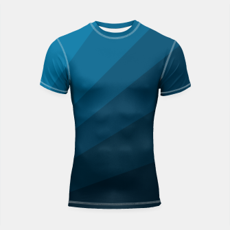 Miniatur The blue fan, geometric design in mystic blue Shortsleeve rashguard, Live Heroes