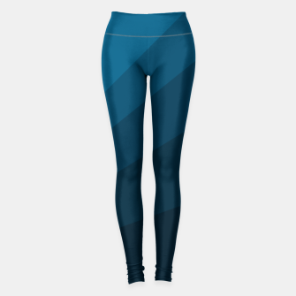 Miniatur The blue fan, geometric design in mystic blue Leggings, Live Heroes