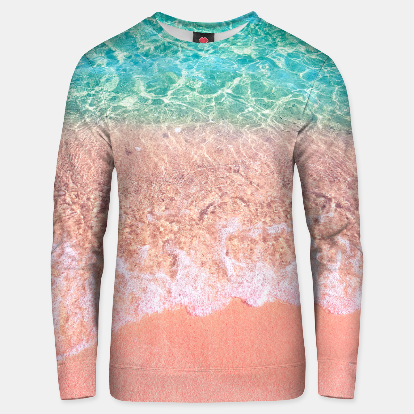 Image of Dreamy seaside photography, water and sand in magical colors Unisex sweater - Live Heroes