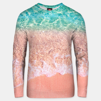 Dreamy seaside photography, water and sand in magical colors Unisex sweater thumbnail image