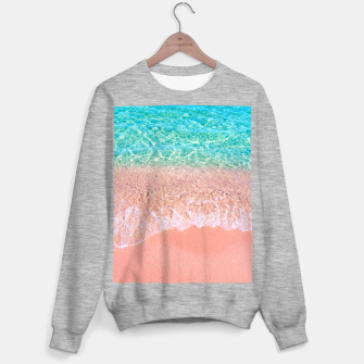 Dreamy seaside photography, water and sand in magical colors Sweater regular thumbnail image