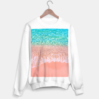 Thumbnail image of Dreamy seaside photography, water and sand in magical colors Sweater regular, Live Heroes