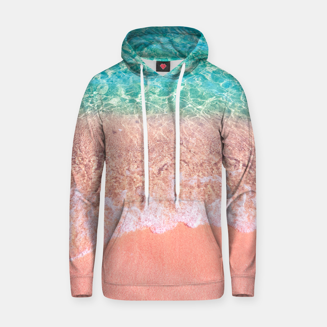 Image of Dreamy seaside photography, water and sand in magical colors Hoodie - Live Heroes