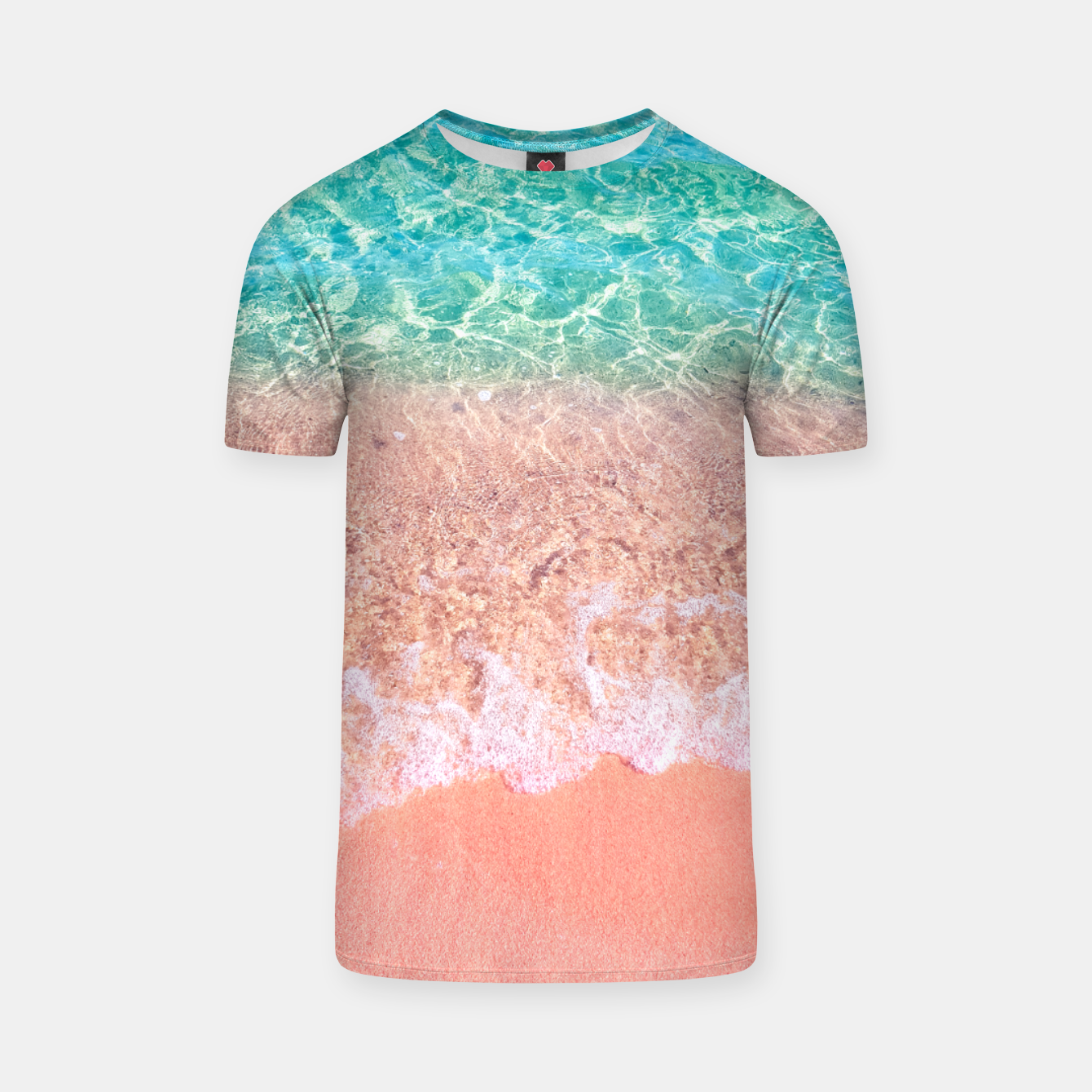 Image of Dreamy seaside photography, water and sand in magical colors T-shirt - Live Heroes