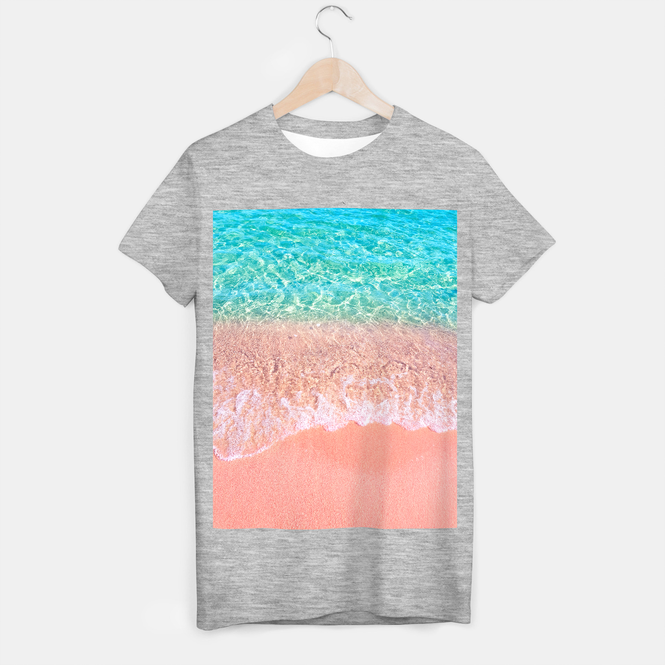 Image of Dreamy seaside photography, water and sand in magical colors T-shirt regular - Live Heroes