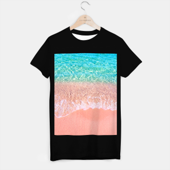 Miniatur Dreamy seaside photography, water and sand in magical colors T-shirt regular, Live Heroes