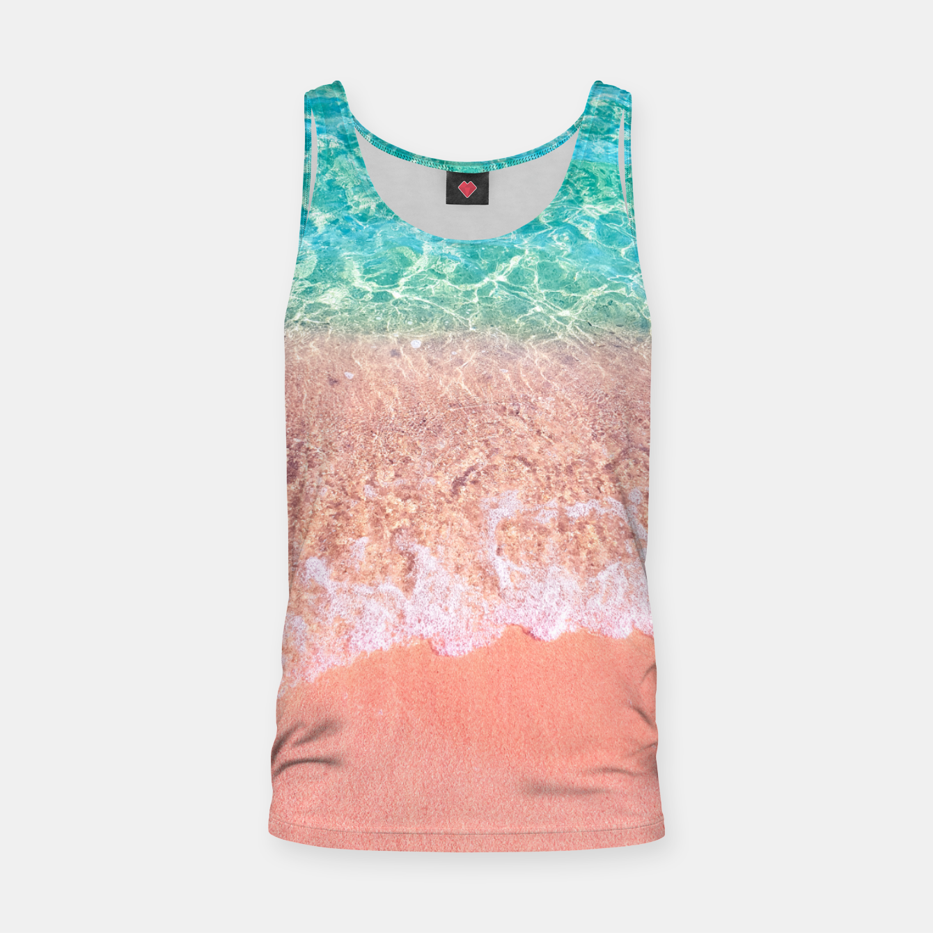 Image of Dreamy seaside photography, water and sand in magical colors Tank Top - Live Heroes