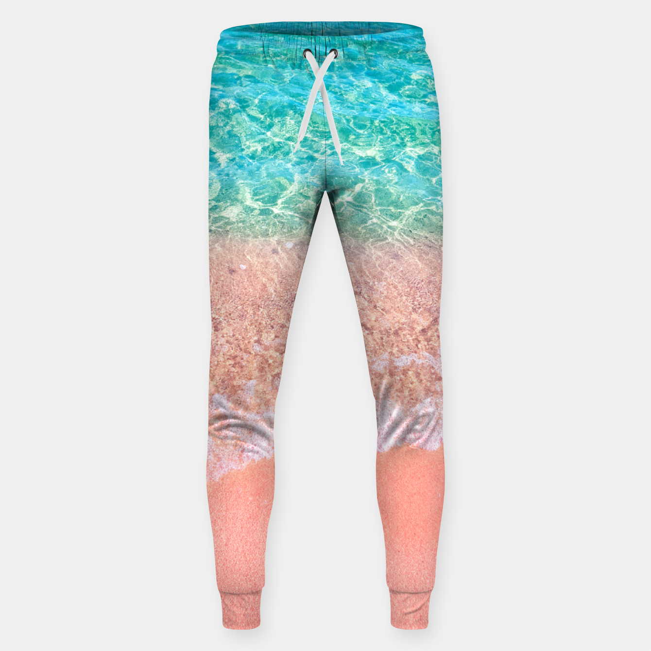 Image of Dreamy seaside photography, water and sand in magical colors Sweatpants - Live Heroes