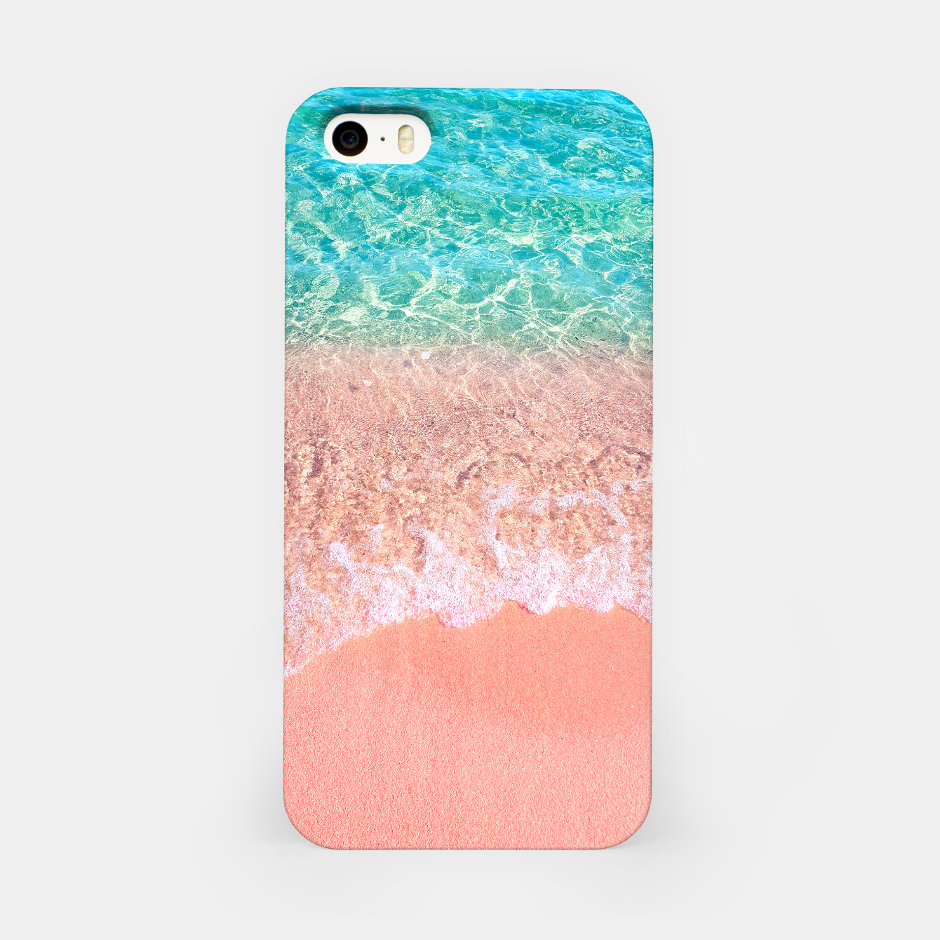 Image of Dreamy seaside photography, water and sand in magical colors iPhone Case - Live Heroes