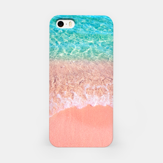 Miniatur Dreamy seaside photography, water and sand in magical colors iPhone Case, Live Heroes