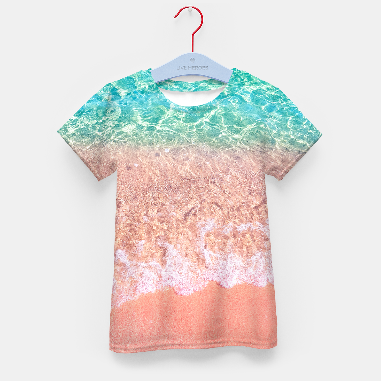 Image of Dreamy seaside photography, water and sand in magical colors Kid's t-shirt - Live Heroes