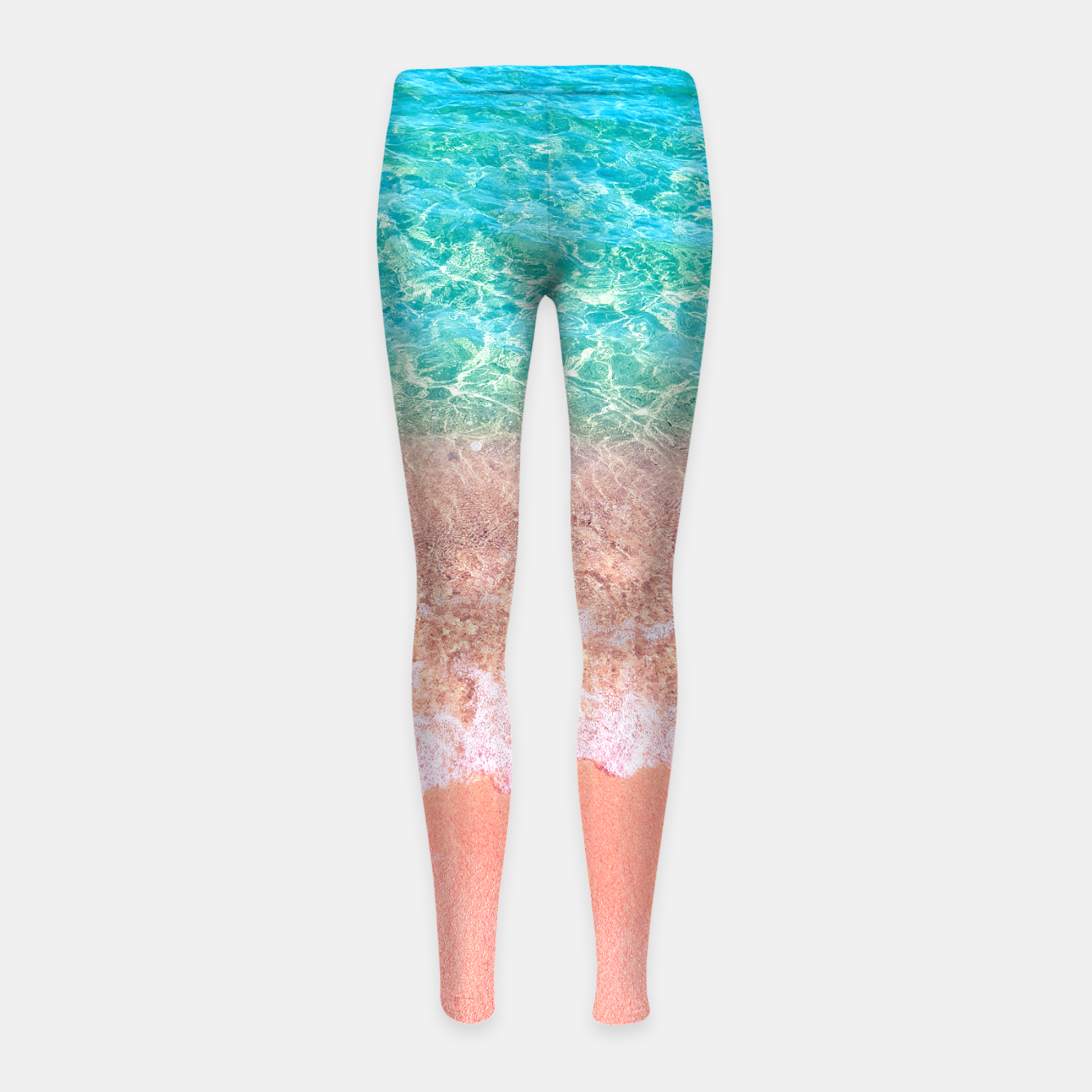 Image of Dreamy seaside photography, water and sand in magical colors Girl's leggings - Live Heroes