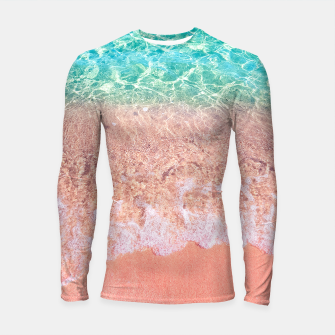 Thumbnail image of Dreamy seaside photography, water and sand in magical colors Longsleeve rashguard , Live Heroes