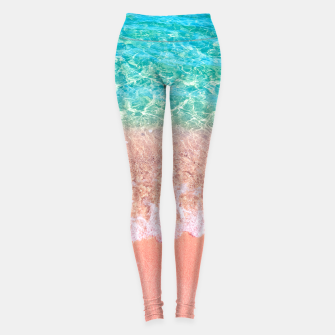 Thumbnail image of Dreamy seaside photography, water and sand in magical colors Leggings, Live Heroes
