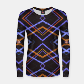 Thumbnail image of Intersecting Diamonds Motif  Pattern Women sweater, Live Heroes