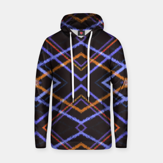 Miniatur Intersecting Diamonds Motif  Pattern Hoodie, Live Heroes