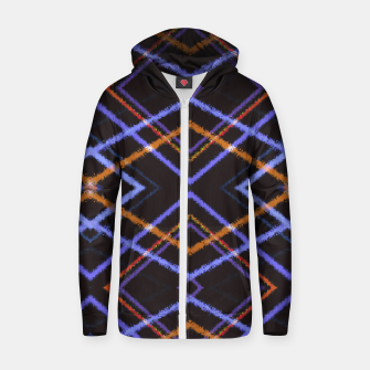 Miniatur Intersecting Diamonds Motif  Pattern Zip up hoodie, Live Heroes