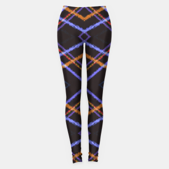Miniatur Intersecting Diamonds Motif  Pattern Leggings, Live Heroes