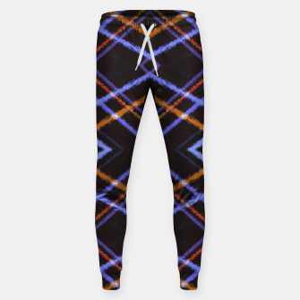 Miniatur Intersecting Diamonds Motif  Pattern Sweatpants, Live Heroes