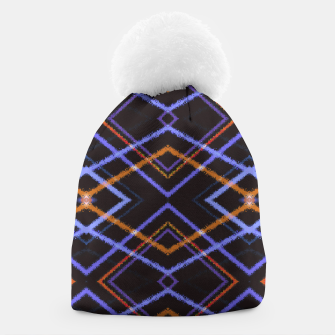 Miniatur Intersecting Diamonds Motif  Pattern Beanie, Live Heroes