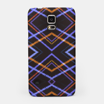 Miniatur Intersecting Diamonds Motif  Pattern Samsung Case, Live Heroes