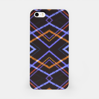 Miniatur Intersecting Diamonds Motif  Pattern iPhone Case, Live Heroes