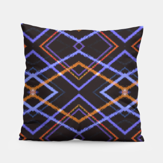 Miniatur Intersecting Diamonds Motif  Pattern Pillow, Live Heroes