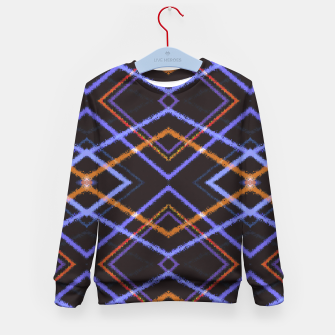 Miniatur Intersecting Diamonds Motif  Pattern Kid's sweater, Live Heroes