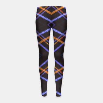 Intersecting Diamonds Motif  Pattern Girl's leggings thumbnail image