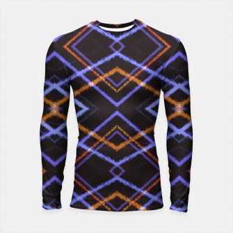 Thumbnail image of Intersecting Diamonds Motif  Pattern Longsleeve rashguard , Live Heroes