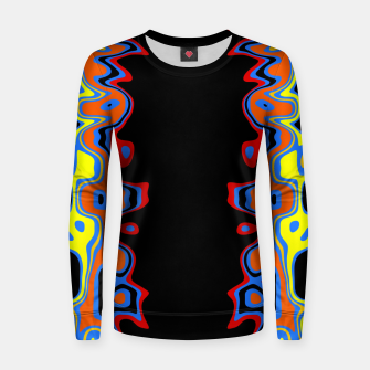 Thumbnail image of Two Sided Abstract Women sweater, Live Heroes