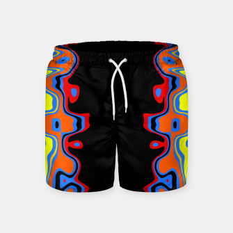 Thumbnail image of Two Sided Abstract Swim Shorts, Live Heroes