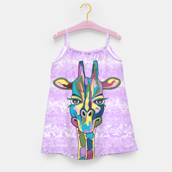Miniaturka Abstract Giraffe Purple Girl's dress, Live Heroes