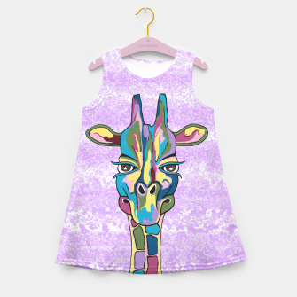 Thumbnail image of Abstract Giraffe Purple Girl's summer dress, Live Heroes