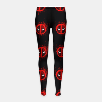 Thumbnail image of deadpool Girl's leggings, Live Heroes