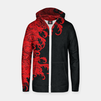 Miniaturka Red New Wave Zip up hoodie, Live Heroes